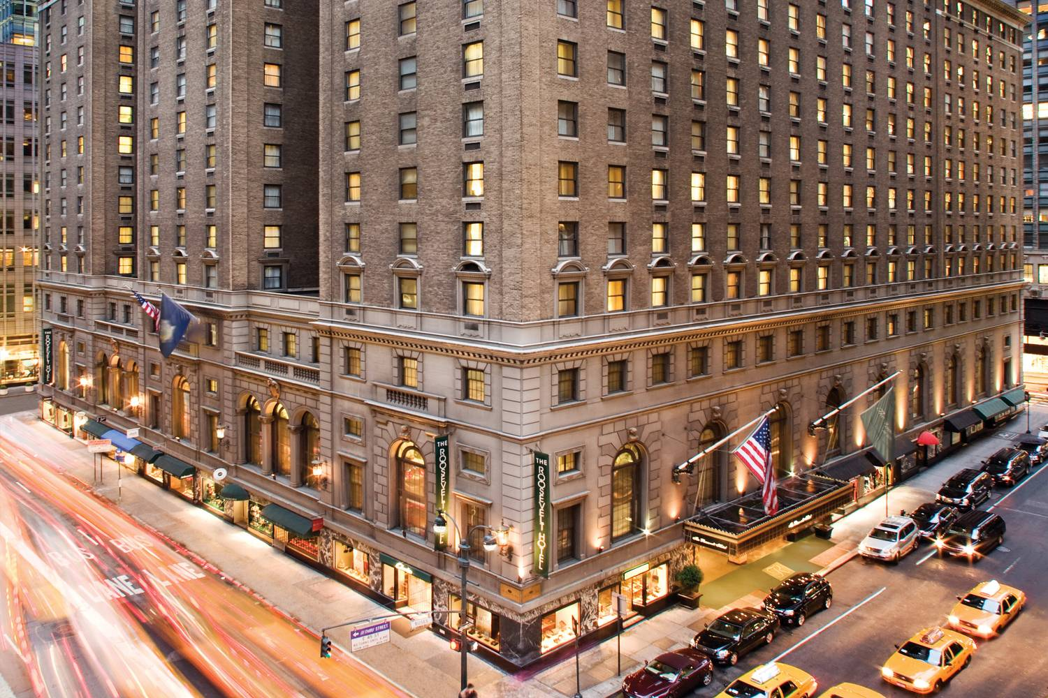 exterior of The Roosevelt Hotel New York