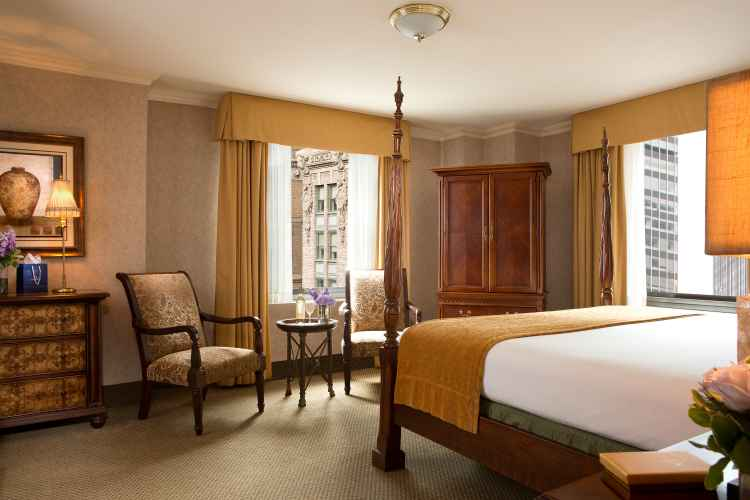 suite at The Roosevelt Hotel New York