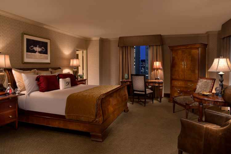 master bedroom suite at The Roosevelt Hotel New York