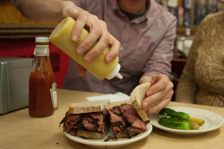 Katz Delicatessen in the Lower East Side pastrami sandwich