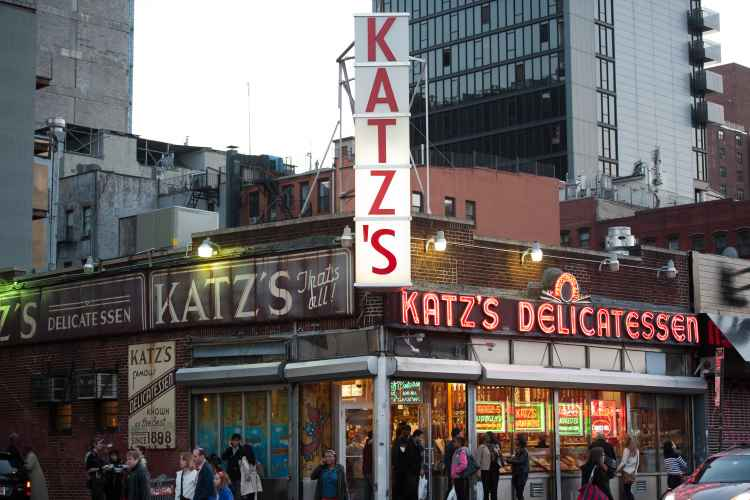Katz Delicatessen in the Lower East Side exterior