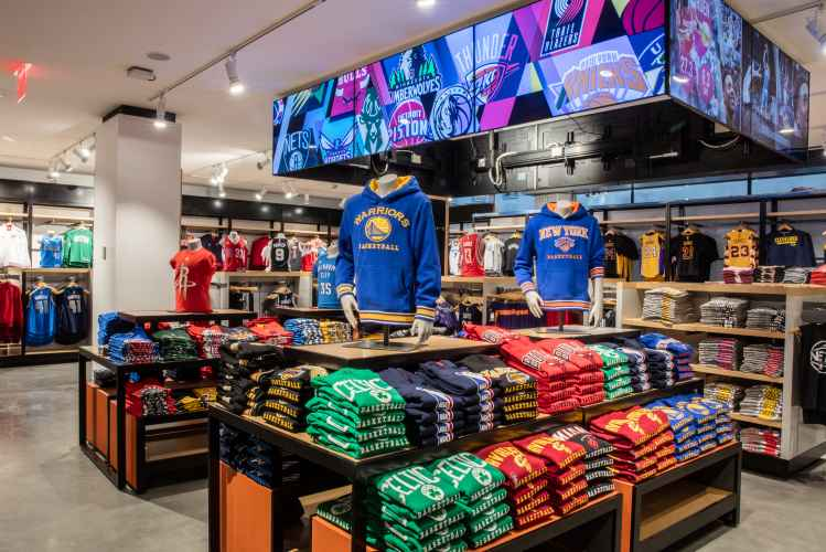 apparel at the NBA Store