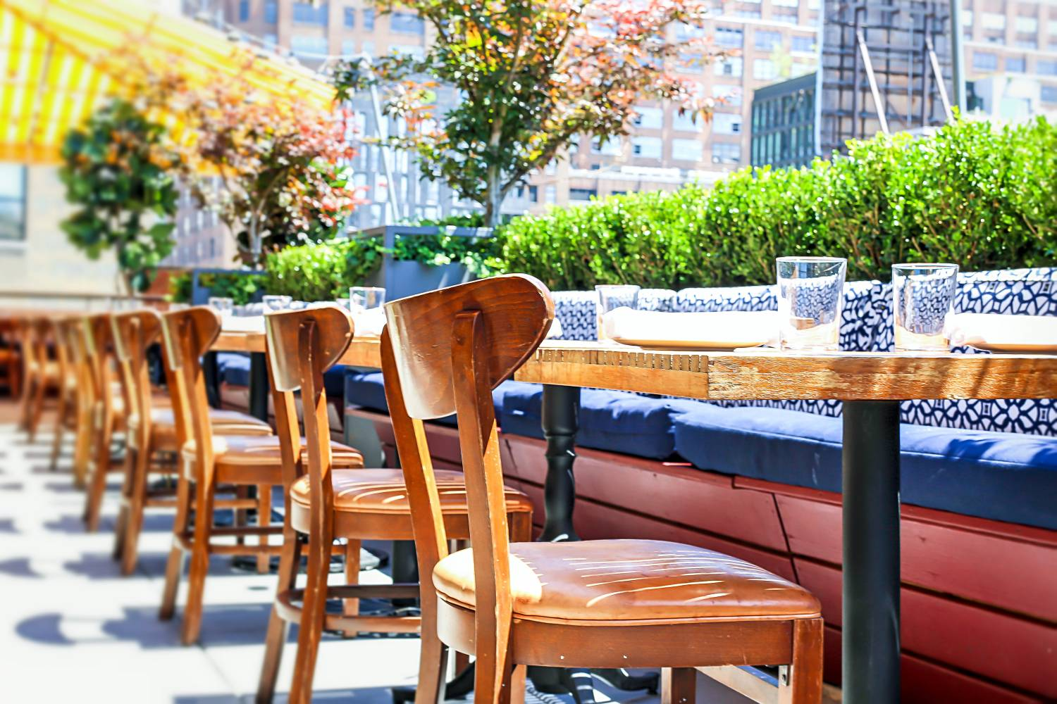 Outdoor seating at Catch Restaurant in Meatpacking District