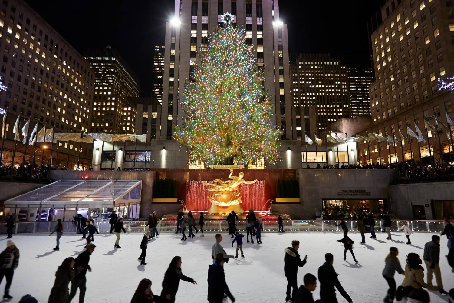 Image result for rockefeller center ice skating