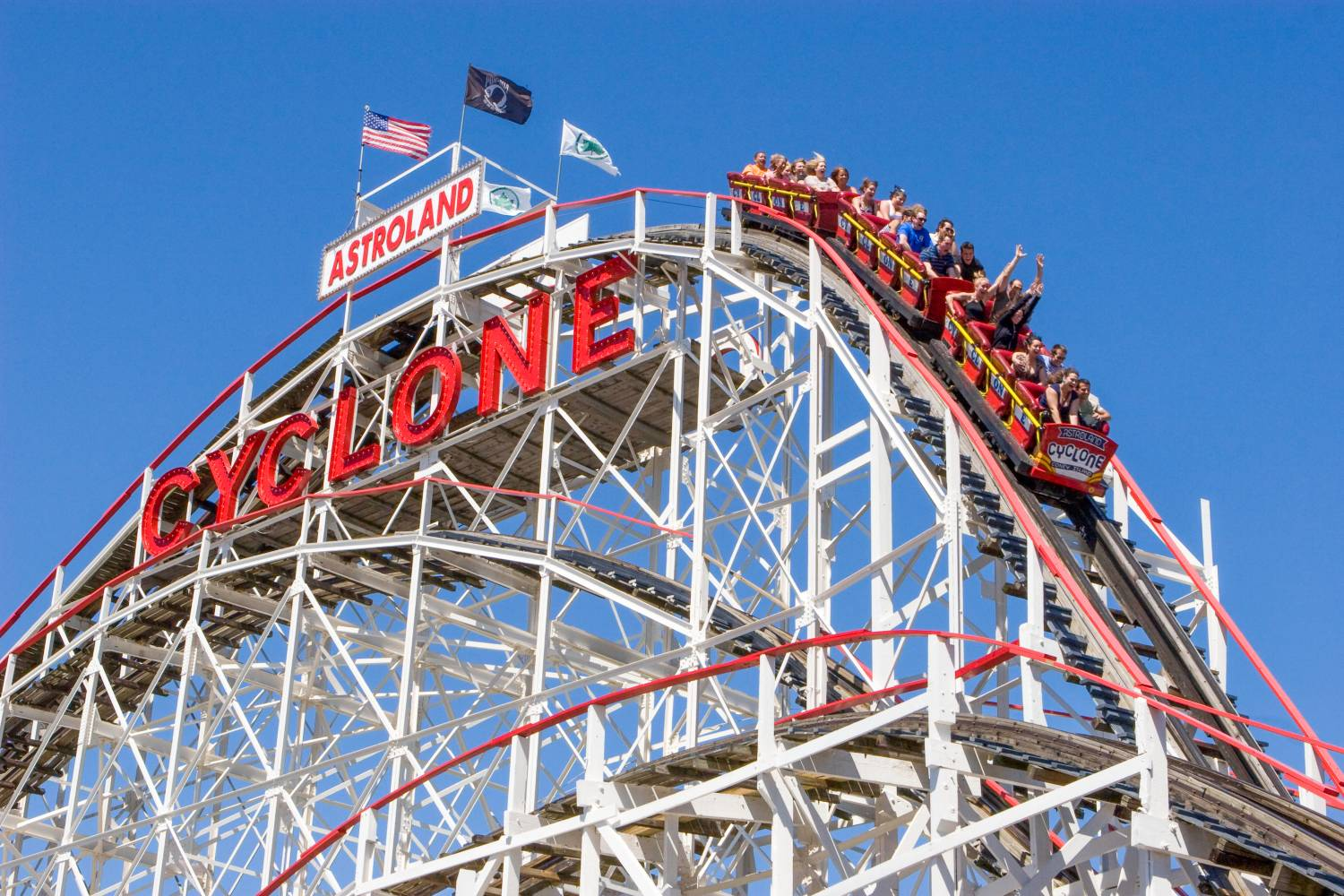 The Cyclone in Coney Island