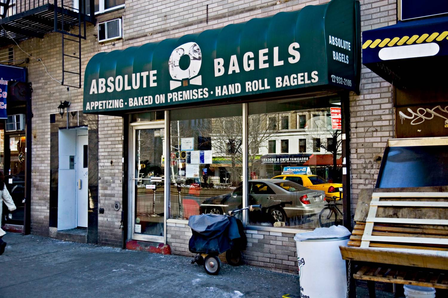 Absolute Bagels, exterior