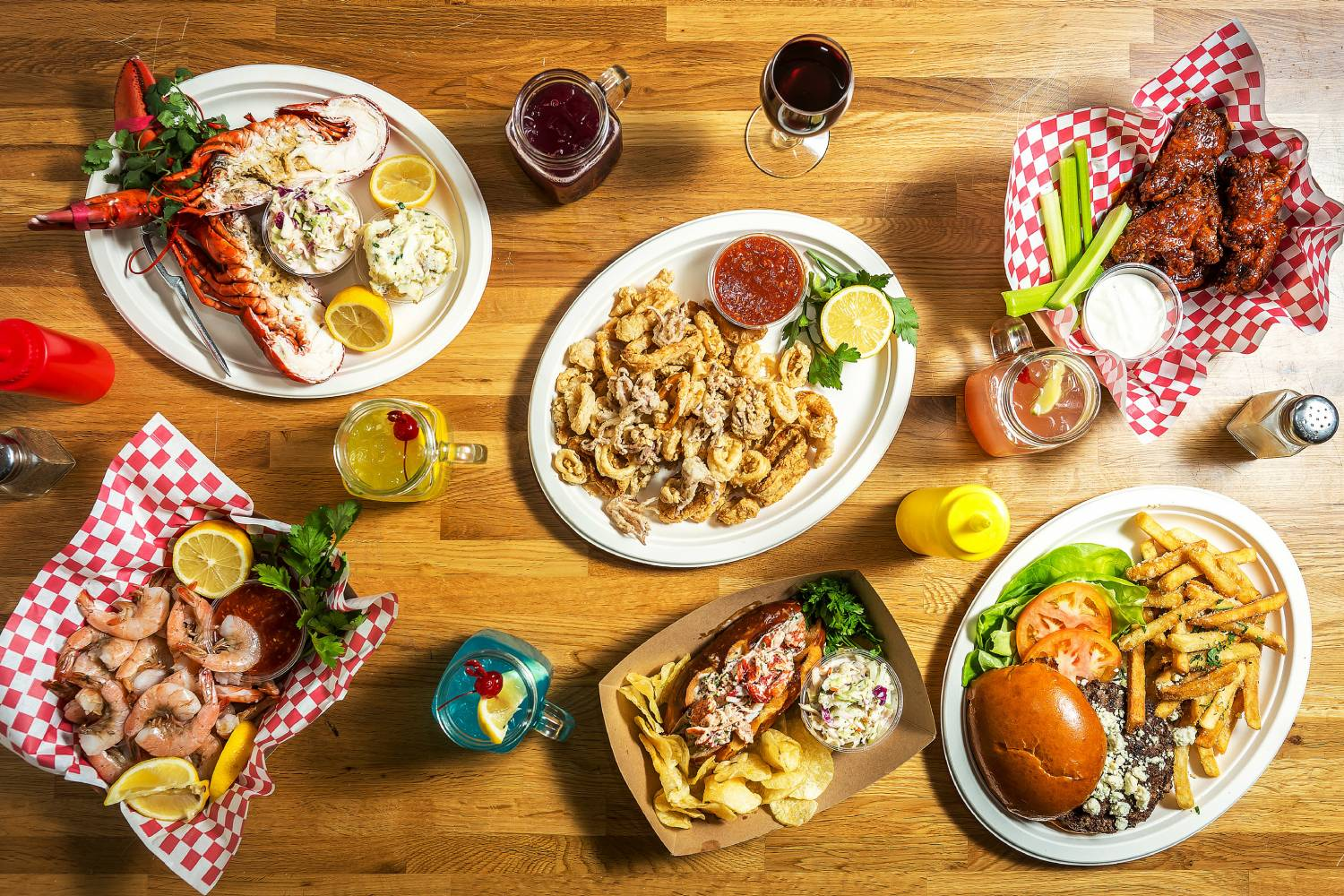Assortment of seafood specials from North River Lobster Company