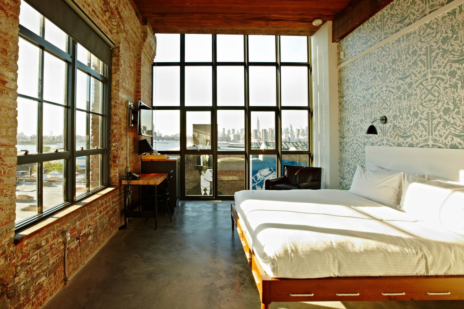 king room with view at Wythe Hotel