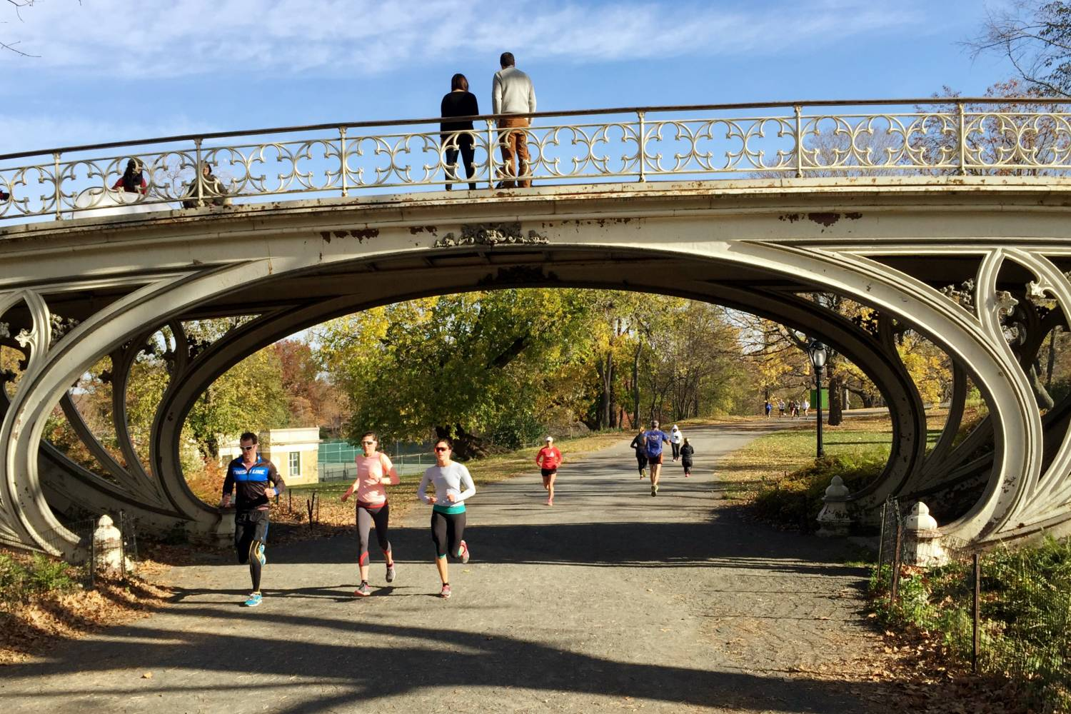 Joggers in Central Park Manhattan