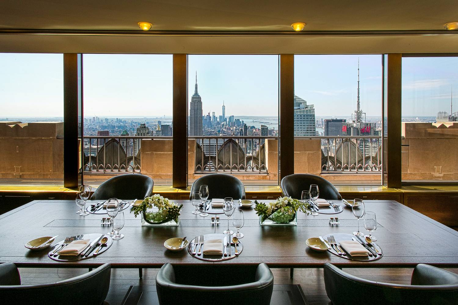 Private dining room at the Rainbow Room