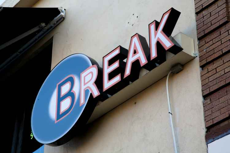 Break Bar, sign
