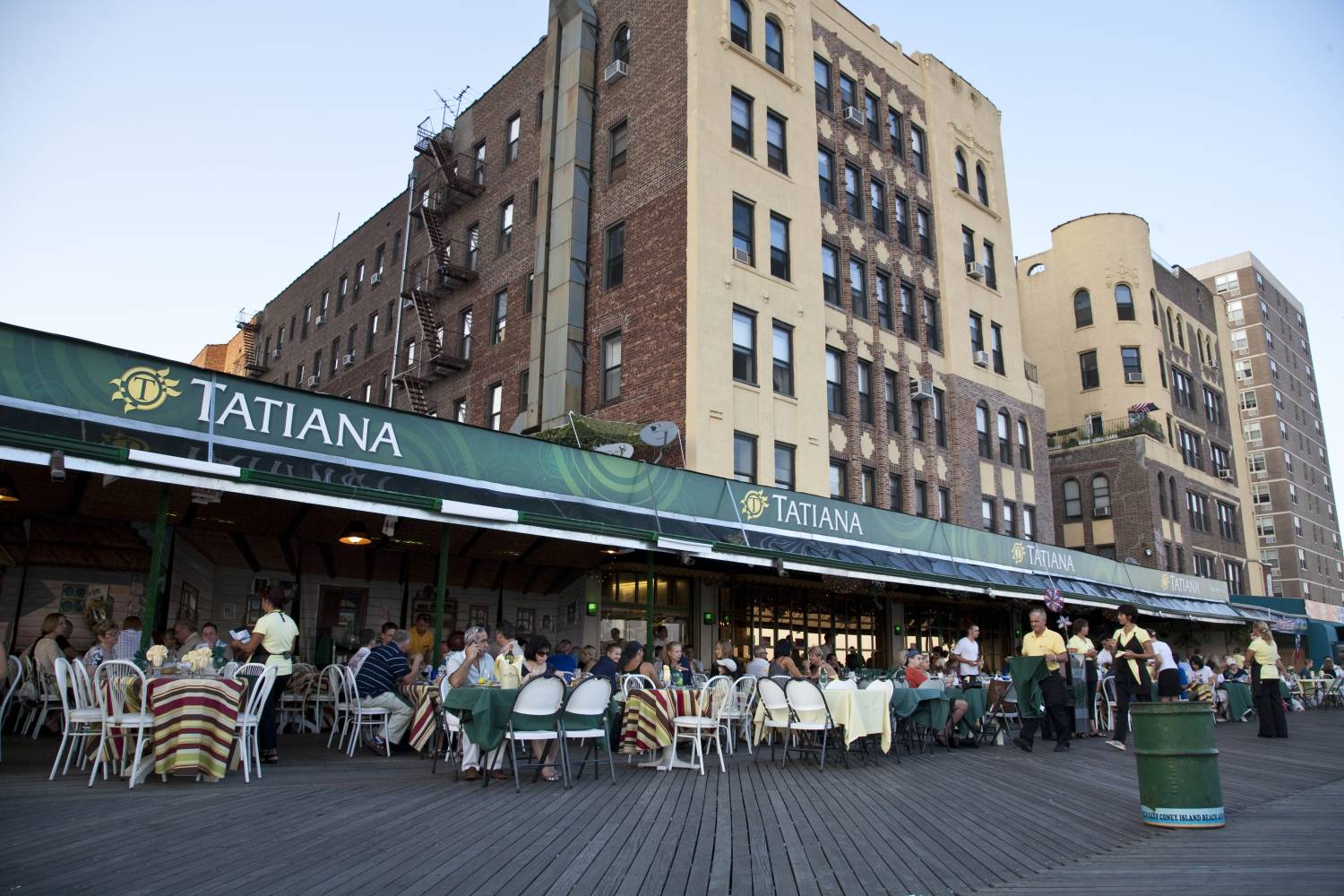 outdoor seating at Tatiana in Brighton Beach
