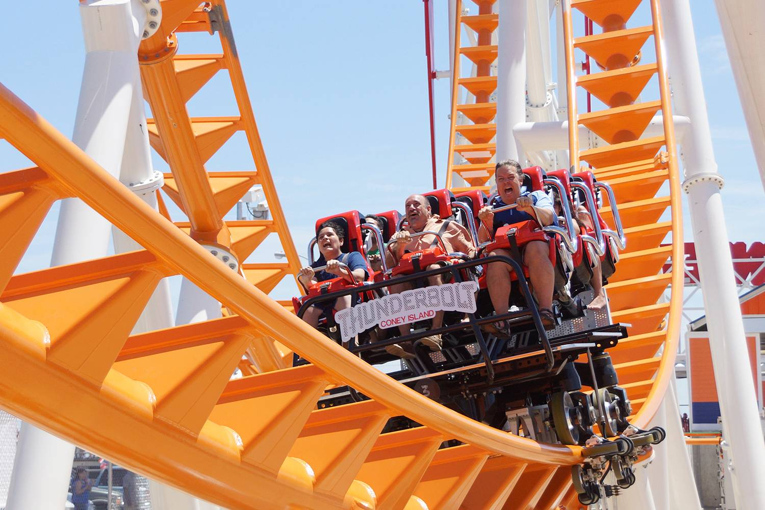 Thunderbolt rollercoaster at Luna Park in Coney Island Brooklyn