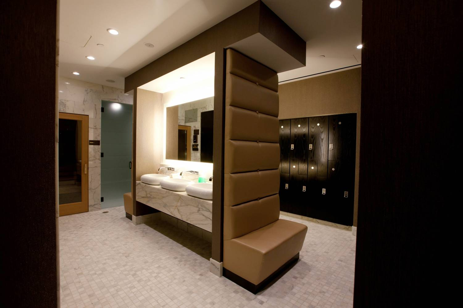 Prodigy spa locker room at The Spa at Trump SoHo