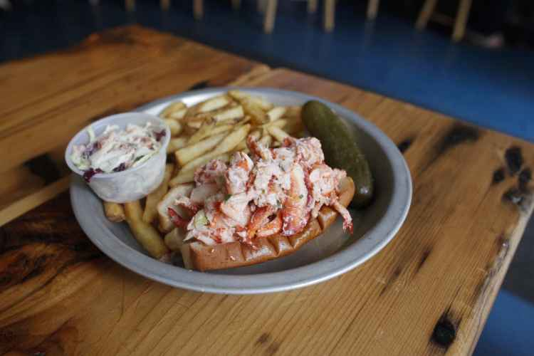 lobster roll at Lobster Joint in Greenpoint
