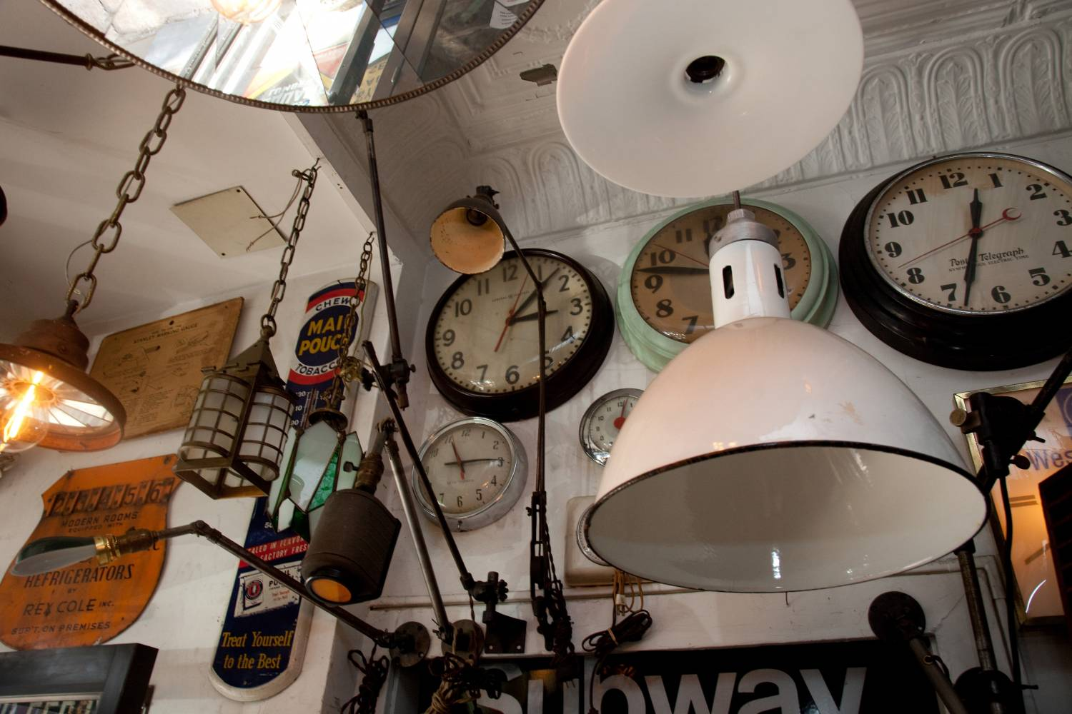clocks and lamps at city foundry