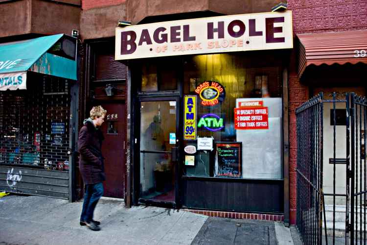 Bagel Hole, exterior