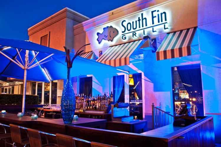 outdoor bar at South Fin Grill