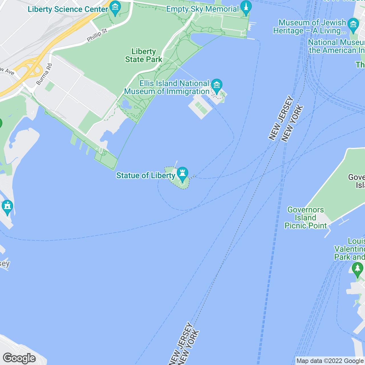 Statue Of Liberty In NYC  Tickets Tours Ellis Island - Map of new york ellis island