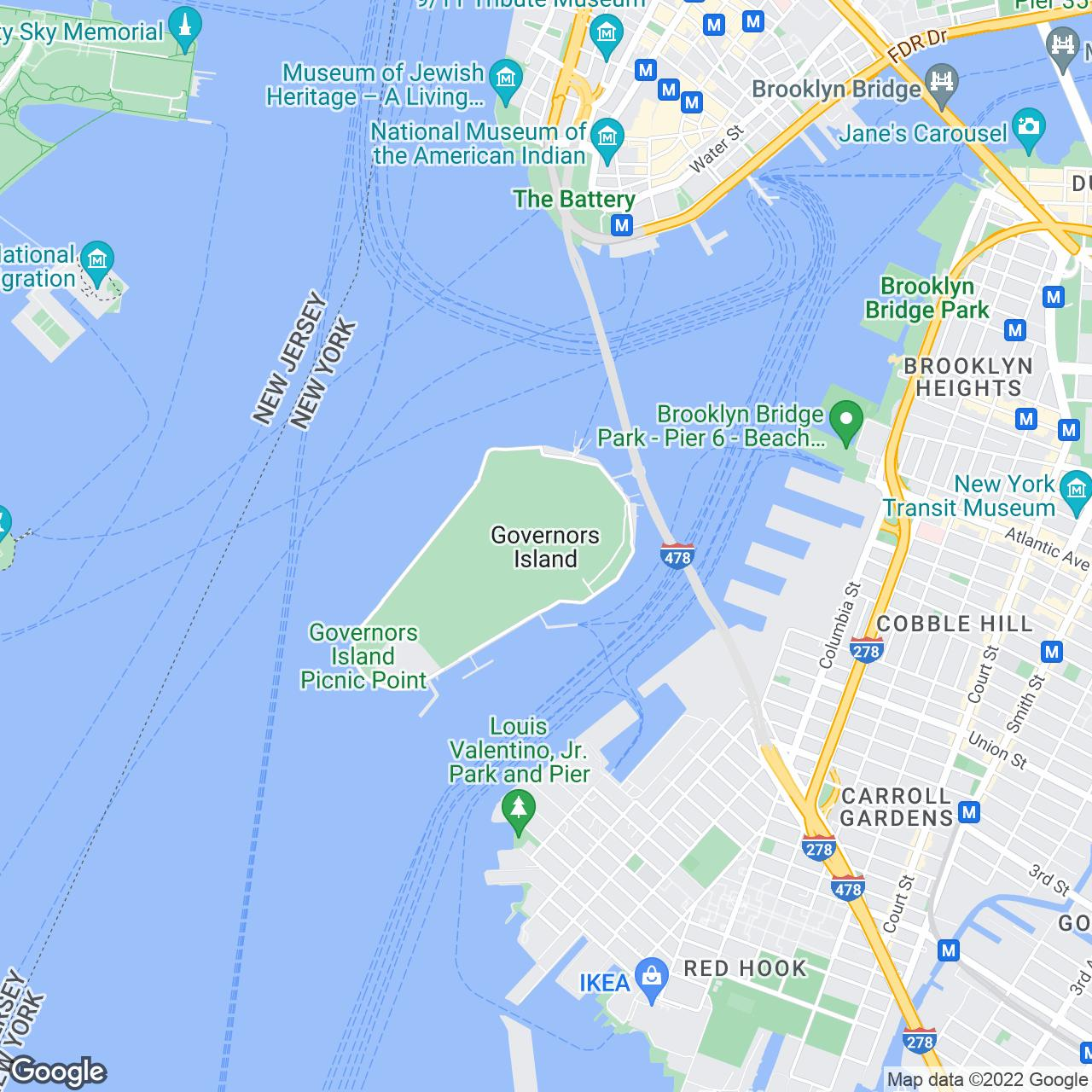 Guide To Governors Island In NYC  Biking History Festivals And Art - Map us governors