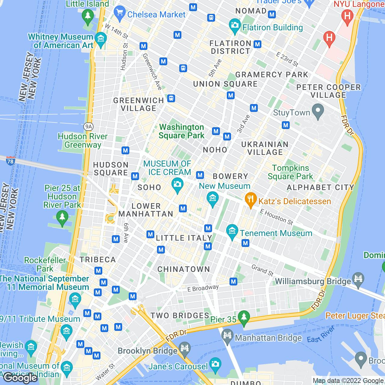 American Apparel Factory Store The Official Guide To New York City - Nyc rat map