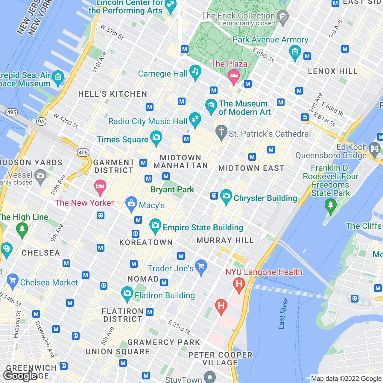 TopView Sightseeing Tours - Tours map